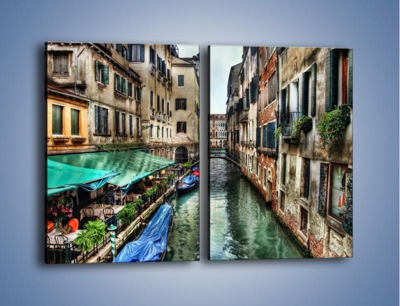 Obraz na płótnie – Wenecka uliczka w kolorach HDR – dwuczęściowy prostokątny pionowy AM374