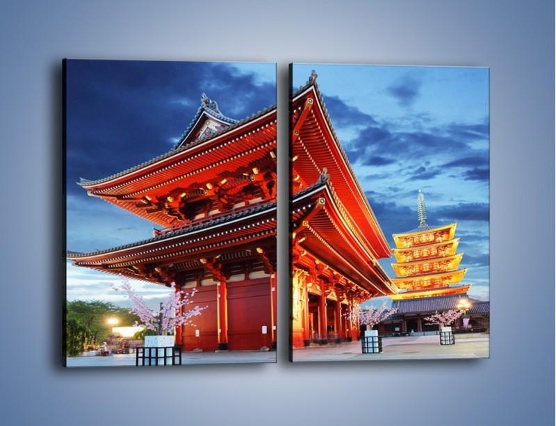 Obraz na płótnie – Świątynia Senso-ji w Tokyo – dwuczęściowy prostokątny pionowy AM378