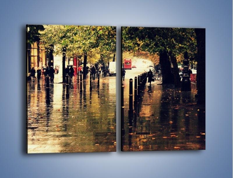 Obraz na płótnie – Deszczowa jesień w Moskwie – dwuczęściowy prostokątny pionowy AM383