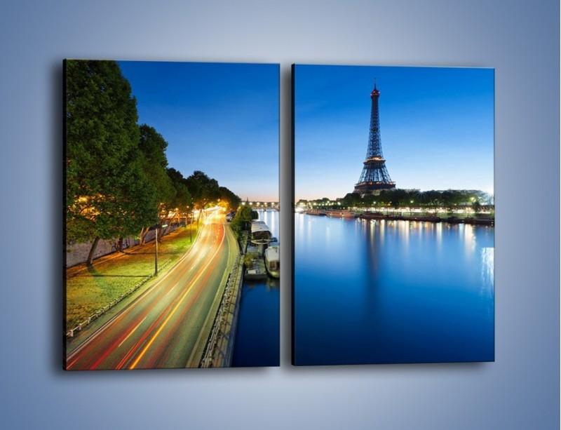 Obraz na płótnie – Zapadający zmrok w Paryżu – dwuczęściowy prostokątny pionowy AM385