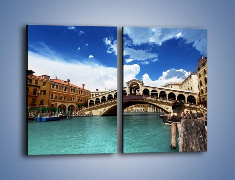 Obraz na płótnie – Most Rialto w Wenecji – dwuczęściowy prostokątny pionowy AM386
