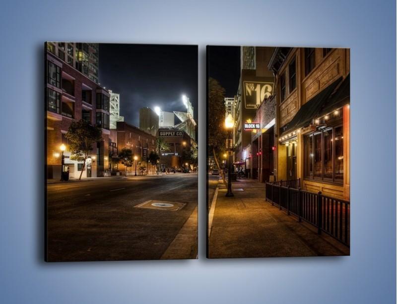 Obraz na płótnie – Ulica San Diego w Kaliforni – dwuczęściowy prostokątny pionowy AM390
