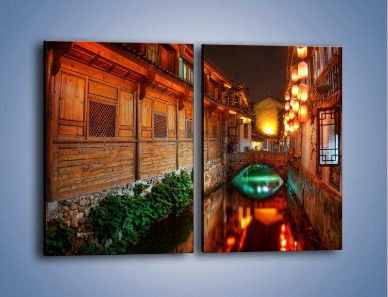 Obraz na płótnie – Kanał w chińskim mieście Lijiang – dwuczęściowy prostokątny pionowy AM391