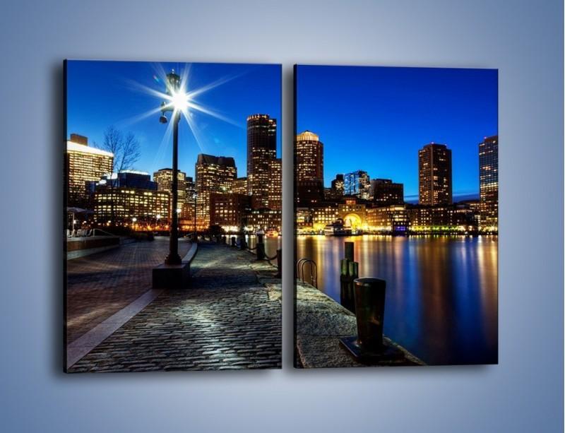Obraz na płótnie – Boston wieczorową porą – dwuczęściowy prostokątny pionowy AM393