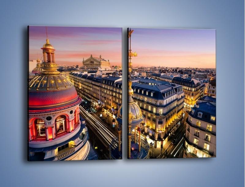 Obraz na płótnie – Paryska architektura – dwuczęściowy prostokątny pionowy AM402