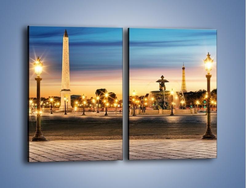 Obraz na płótnie – Place de la Concorde w Paryżu – dwuczęściowy prostokątny pionowy AM404