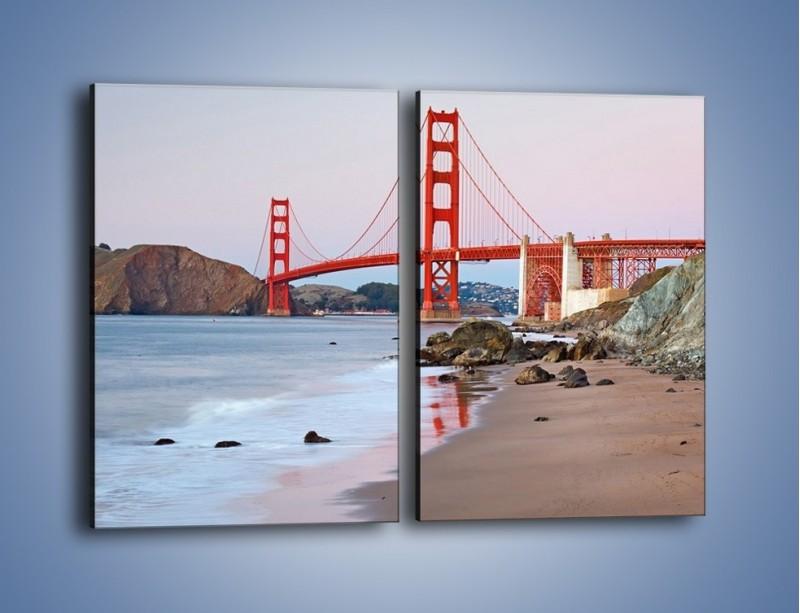 Obraz na płótnie – Most Golden Gate – dwuczęściowy prostokątny pionowy AM406