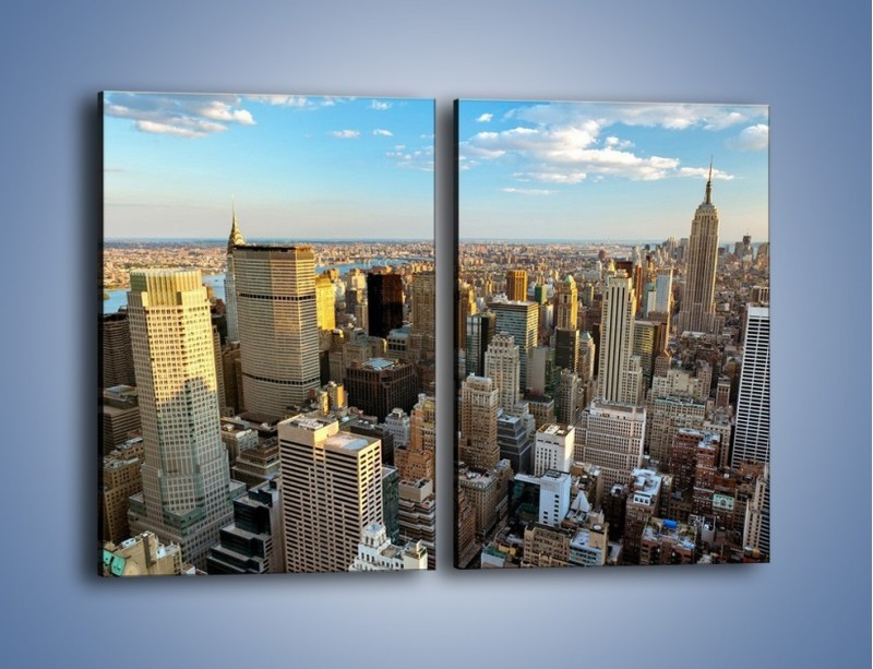 Obraz na płótnie – Manhattan w Nowym Yorku – dwuczęściowy prostokątny pionowy AM412