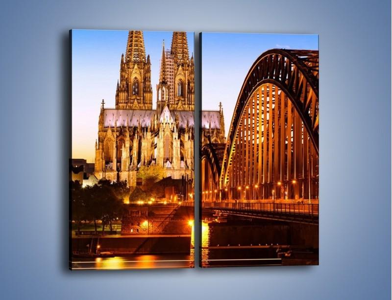 Obraz na płótnie – Katedra św. Piotra i NMP w Kolonii – dwuczęściowy prostokątny pionowy AM413