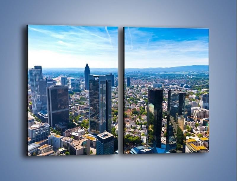 Obraz na płótnie – Panorama Frankfurtu – dwuczęściowy prostokątny pionowy AM414