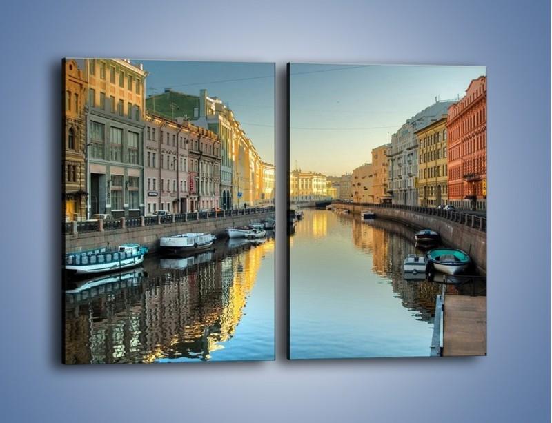 Obraz na płótnie – Kanał wodny w St. Petersburgu – dwuczęściowy prostokątny pionowy AM422