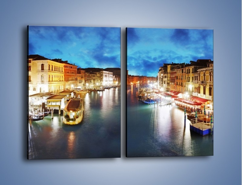 Obraz na płótnie – Światła Wenecji po zmroku – dwuczęściowy prostokątny pionowy AM430