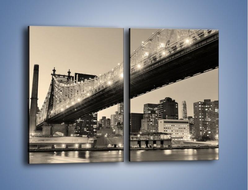 Obraz na płótnie – Most Qeensboro w Nowym Yorku – dwuczęściowy prostokątny pionowy AM438
