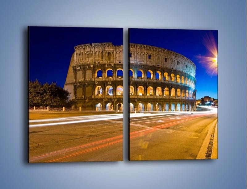 Obraz na płótnie – Koloseum po zmierzchu – dwuczęściowy prostokątny pionowy AM443