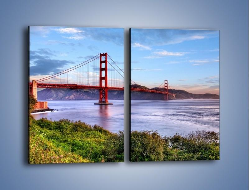 Obraz na płótnie – Most Golden Gate w San Francisco – dwuczęściowy prostokątny pionowy AM444