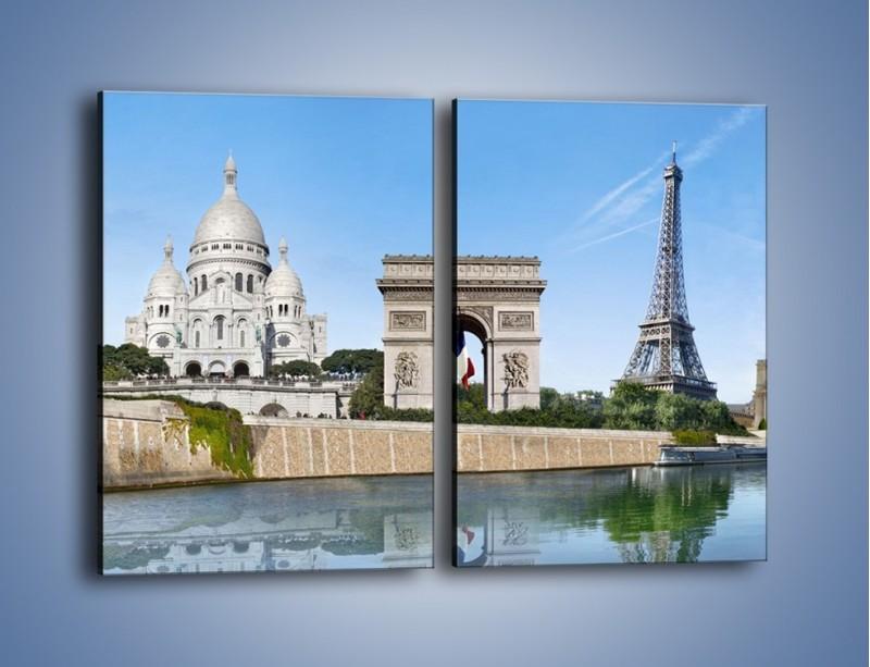 Obraz na płótnie – Atrakcje turystyczne Paryża – dwuczęściowy prostokątny pionowy AM448