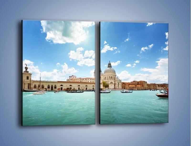 Obraz na płótnie – Canal Grande w Wenecji – dwuczęściowy prostokątny pionowy AM449