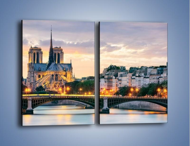 Obraz na płótnie – Katedra Notre Dame – dwuczęściowy prostokątny pionowy AM454