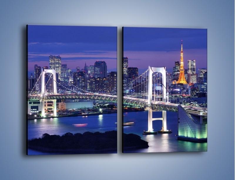 Obraz na płótnie – Tęczowy Most w Tokyo – dwuczęściowy prostokątny pionowy AM460