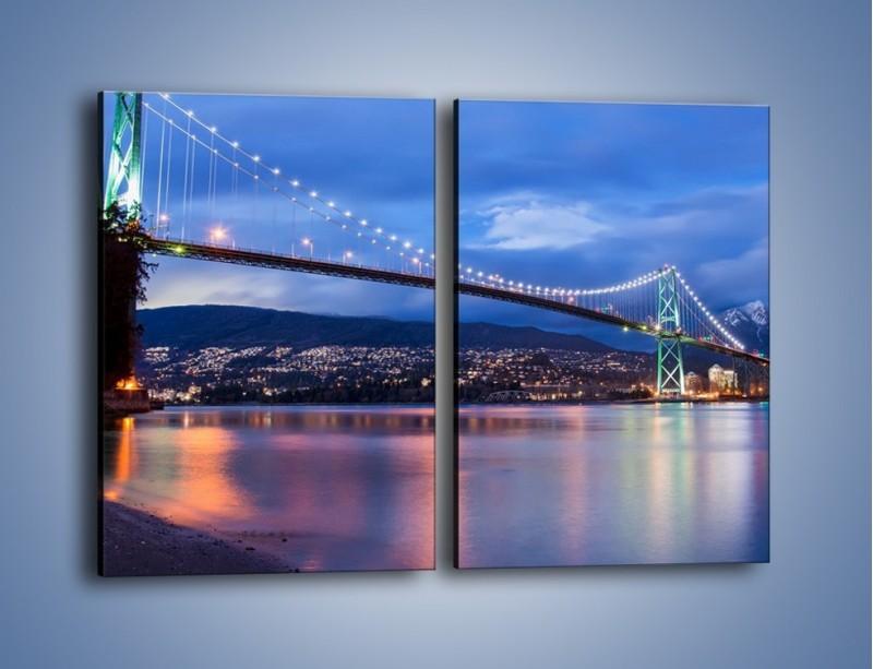 Obraz na płótnie – Most Lions Gate w Vancouver – dwuczęściowy prostokątny pionowy AM471