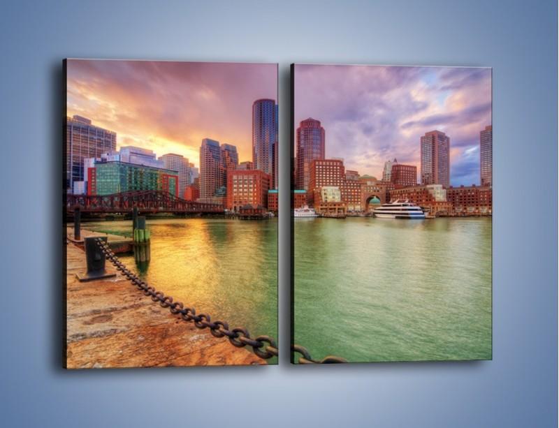 Obraz na płótnie – Widok na centrum Bostonu – dwuczęściowy prostokątny pionowy AM486