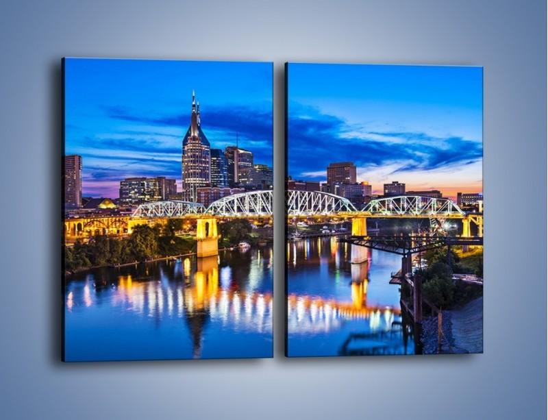 Obraz na płótnie – Most Shelby Street w Nashville – dwuczęściowy prostokątny pionowy AM489