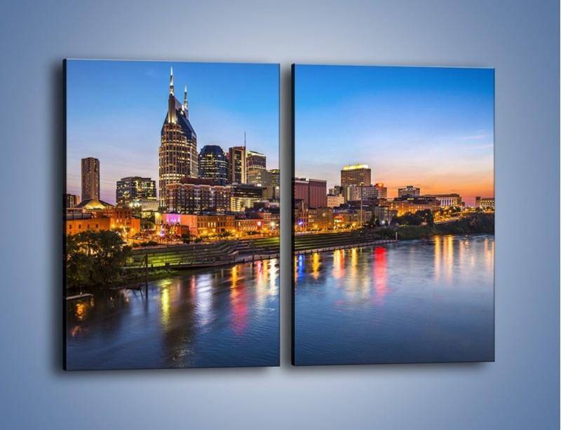 Obraz na płótnie – Nashville nad rzeką Cumberland – dwuczęściowy prostokątny pionowy AM491