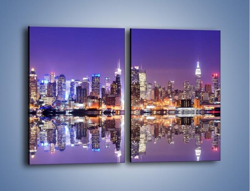 Obraz na płótnie – Panorama Midtown Manhattan – dwuczęściowy prostokątny pionowy AM492