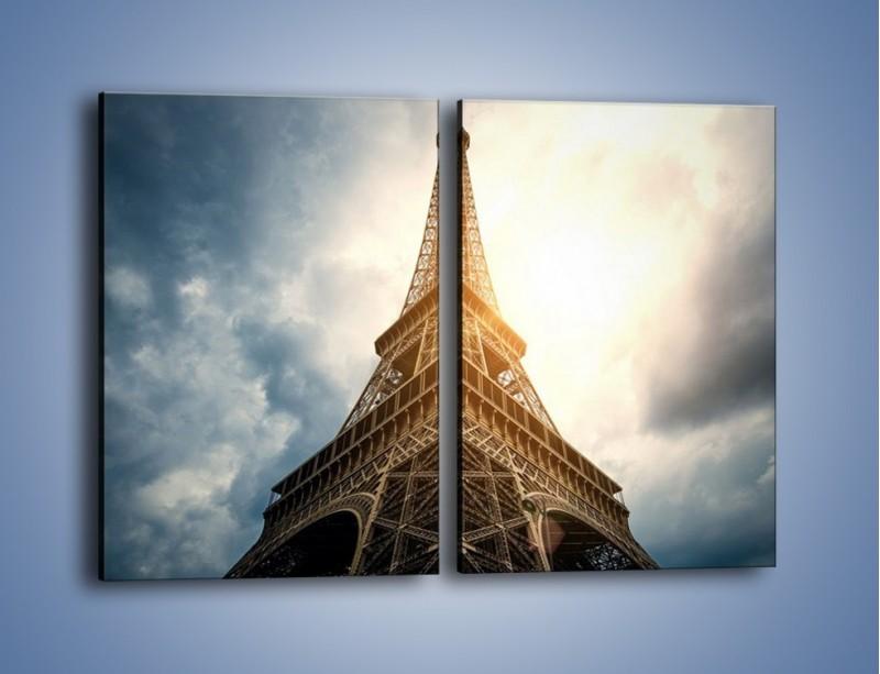 Obraz na płótnie – Wieża Eiffla w blasku słońca – dwuczęściowy prostokątny pionowy AM494