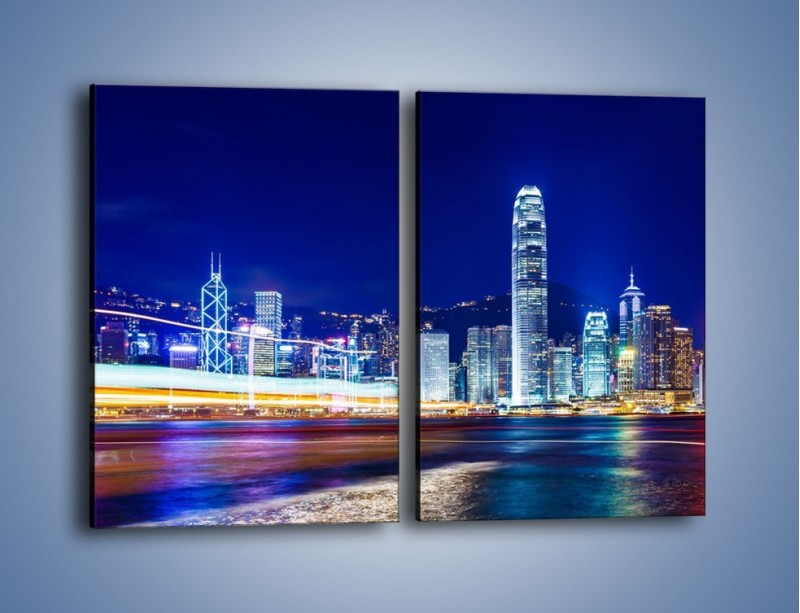 Obraz na płótnie – Panorama Hong Kongu – dwuczęściowy prostokątny pionowy AM499