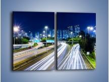 Obraz na płótnie – Autostrada prowadząca do Hong Kongu – dwuczęściowy prostokątny pionowy AM504