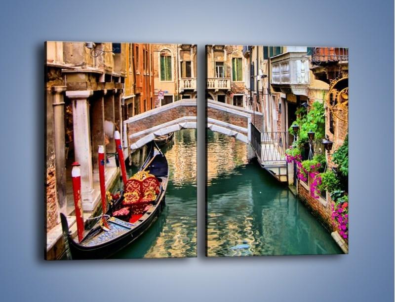 Obraz na płótnie – Wenecka wodna uliczka – dwuczęściowy prostokątny pionowy AM508