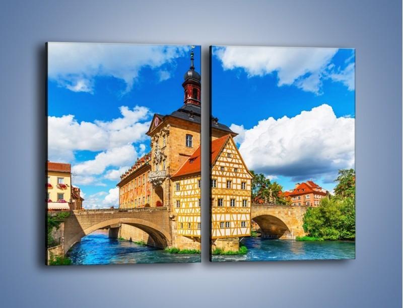 Obraz na płótnie – Ratusz w mieście Bamberg – dwuczęściowy prostokątny pionowy AM513