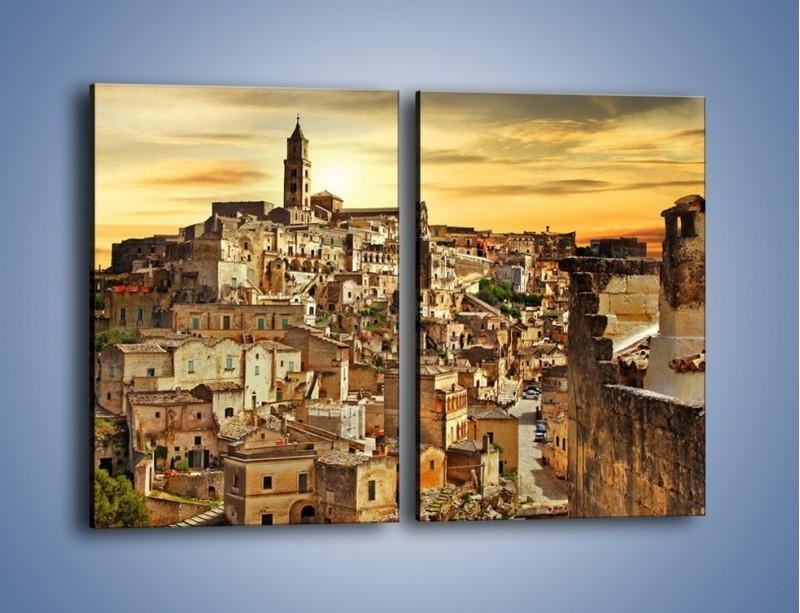 Obraz na płótnie – Matera – miasto wykute w skale – dwuczęściowy prostokątny pionowy AM517