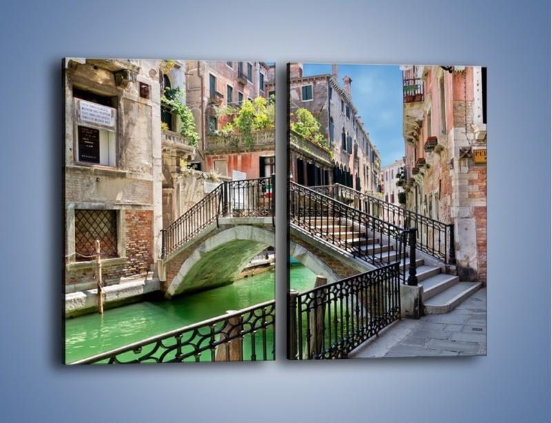 Obraz na płótnie – Wenecki most – dwuczęściowy prostokątny pionowy AM523