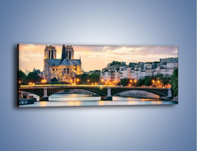 Obraz na płótnie – Katedra Notre Dame – jednoczęściowy panoramiczny AM454