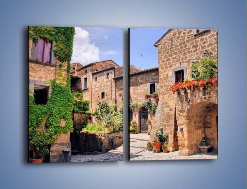 Obraz na płótnie – Romantyczna uliczka we Włoszech – dwuczęściowy prostokątny pionowy AM533