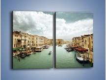 Obraz na płótnie – Cieśnina Canal Grande w Wenecji – dwuczęściowy prostokątny pionowy AM559