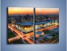 Obraz na płótnie – Centrum kongresowe CNCC w Chinach – dwuczęściowy prostokątny pionowy AM575