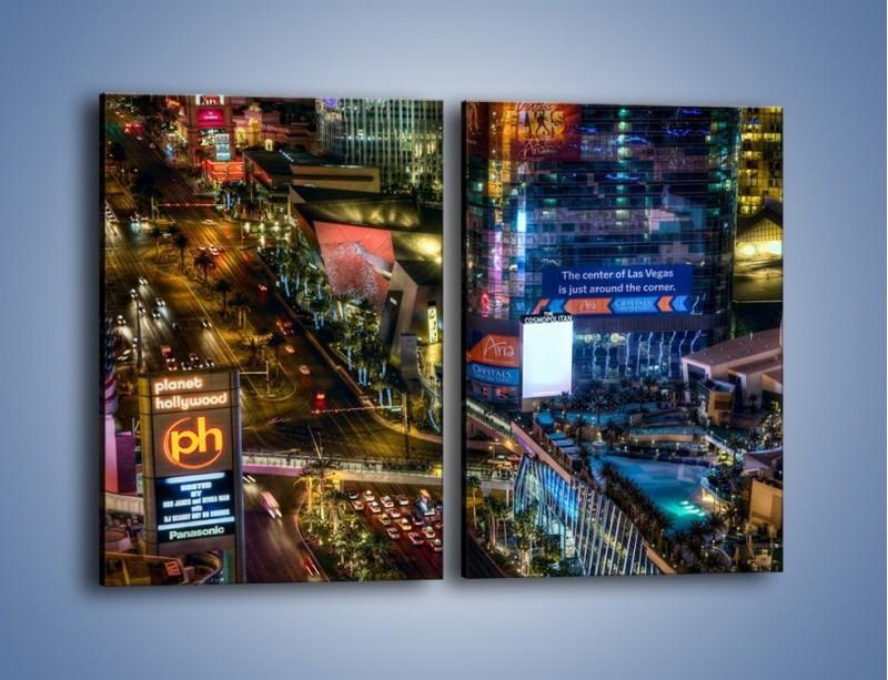 Obraz na płótnie – Cosmopolitan of Las Vegas – dwuczęściowy prostokątny pionowy AM577