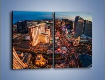 Obraz na płótnie – Centrum Las Vegas – dwuczęściowy prostokątny pionowy AM588