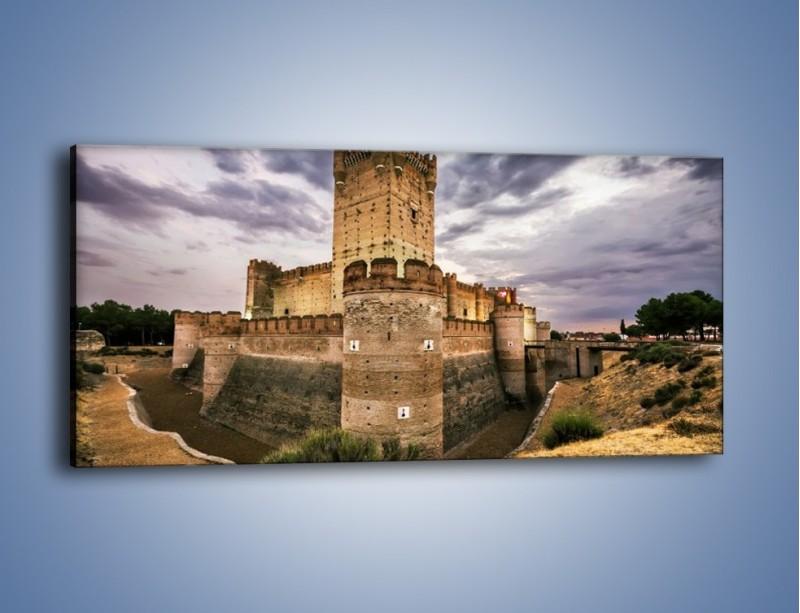 Obraz na płótnie – Zamek La Mota w Hiszpanii – jednoczęściowy panoramiczny AM457