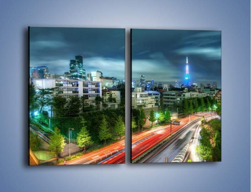 Obraz na płótnie – Miasto Roppongi w Japonii – dwuczęściowy prostokątny pionowy AM593