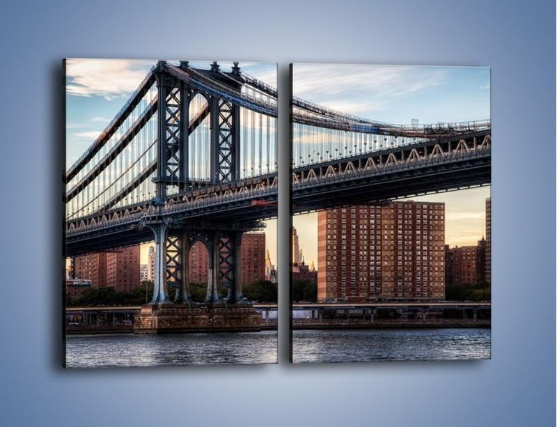 Obraz na płótnie – Manhattan Bridge – dwuczęściowy prostokątny pionowy AM607