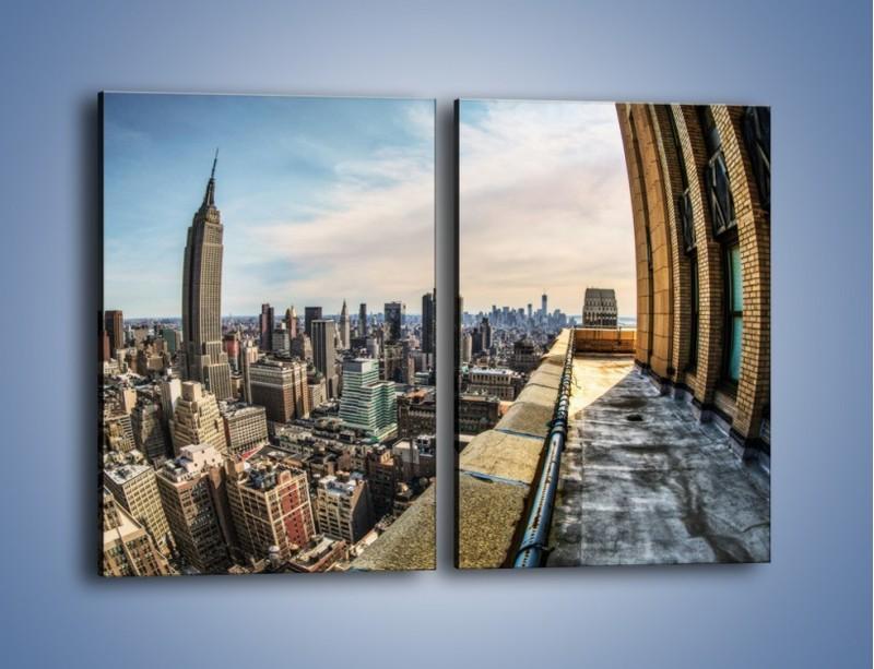 Obraz na płótnie – Empire State Building na Manhattanie – dwuczęściowy prostokątny pionowy AM610