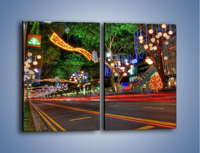 Obraz na płótnie – Noworoczne dekoracje w Singapurze – dwuczęściowy prostokątny pionowy AM616