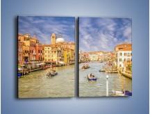 Obraz na płótnie – Canal Grande w Wenecji o poranku – dwuczęściowy prostokątny pionowy AM617