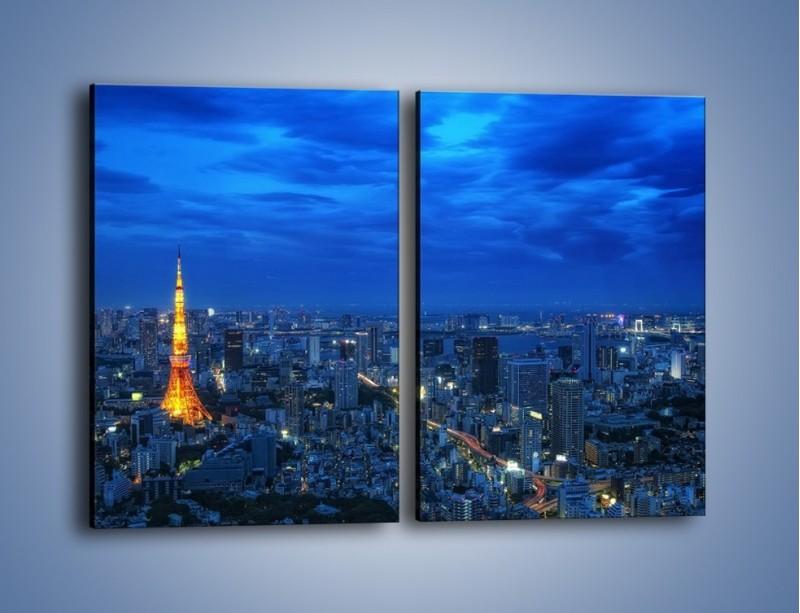 Obraz na płótnie – Tokyo Tower w Japonii – dwuczęściowy prostokątny pionowy AM621