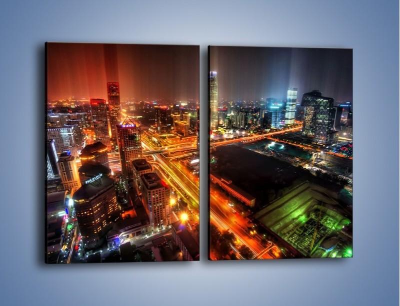 Obraz na płótnie – Niesamowite kolory Pekinu – dwuczęściowy prostokątny pionowy AM632