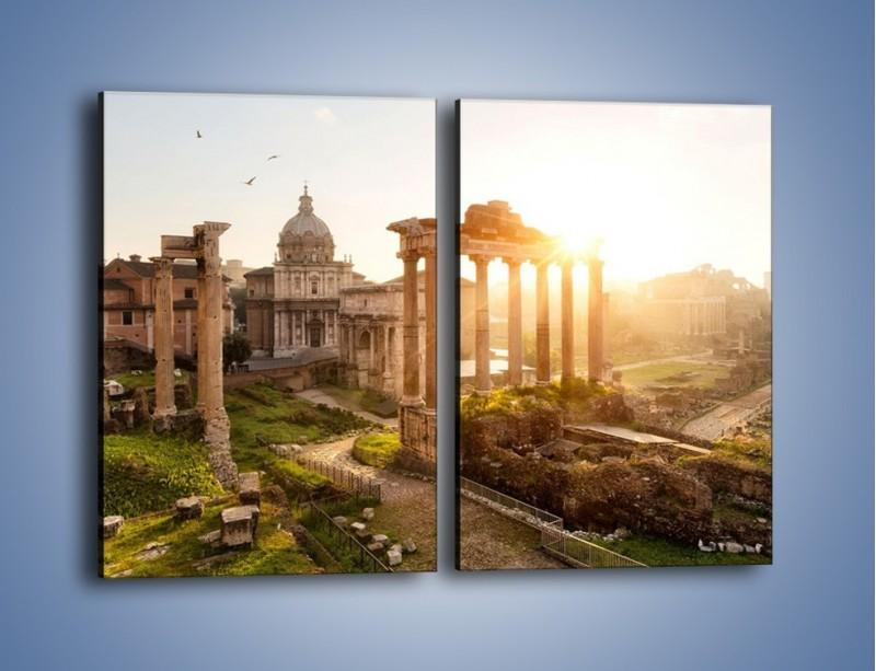 Obraz na płótnie – Starożytna architektura Rzymu – dwuczęściowy prostokątny pionowy AM638
